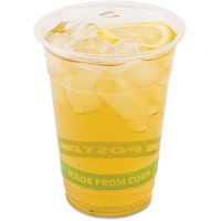 Eco-products GreenStripe Clear Cold Drink Cups, 16 oz, 20 Packs of 50, 1000 Cups Total