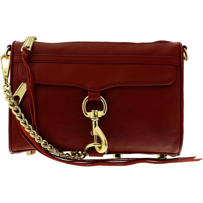Rebecca Minkoff Women S Mini Mac Convertible Crossbody Bag Leather Cross Body Deep Red