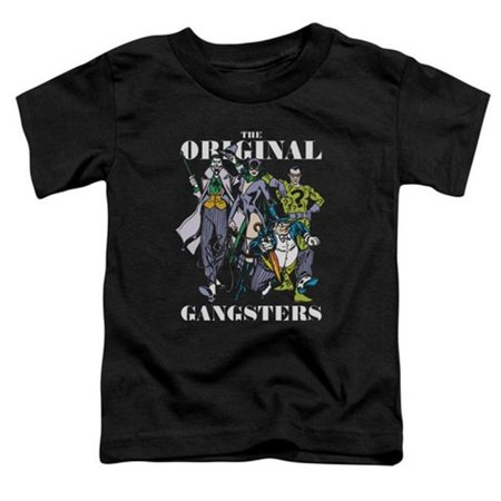 Trevco Dc-Original Gangsters - Short Sleeve Toddler Tee - Black, Medium 3T - Gangster Items