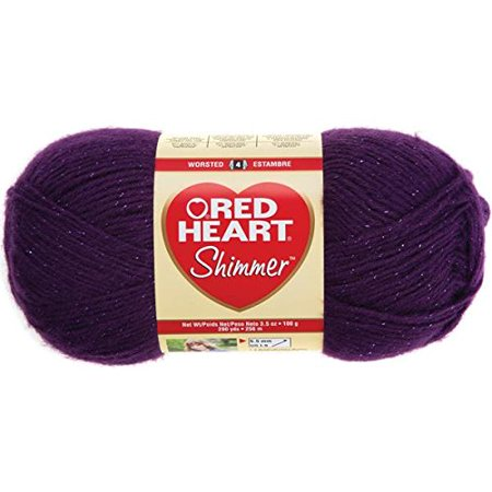 Red Heart Shimmer Yarn-Plum, Shimmer is an elegant yarn that contains just a hint of metallic By Coats Yarn ()