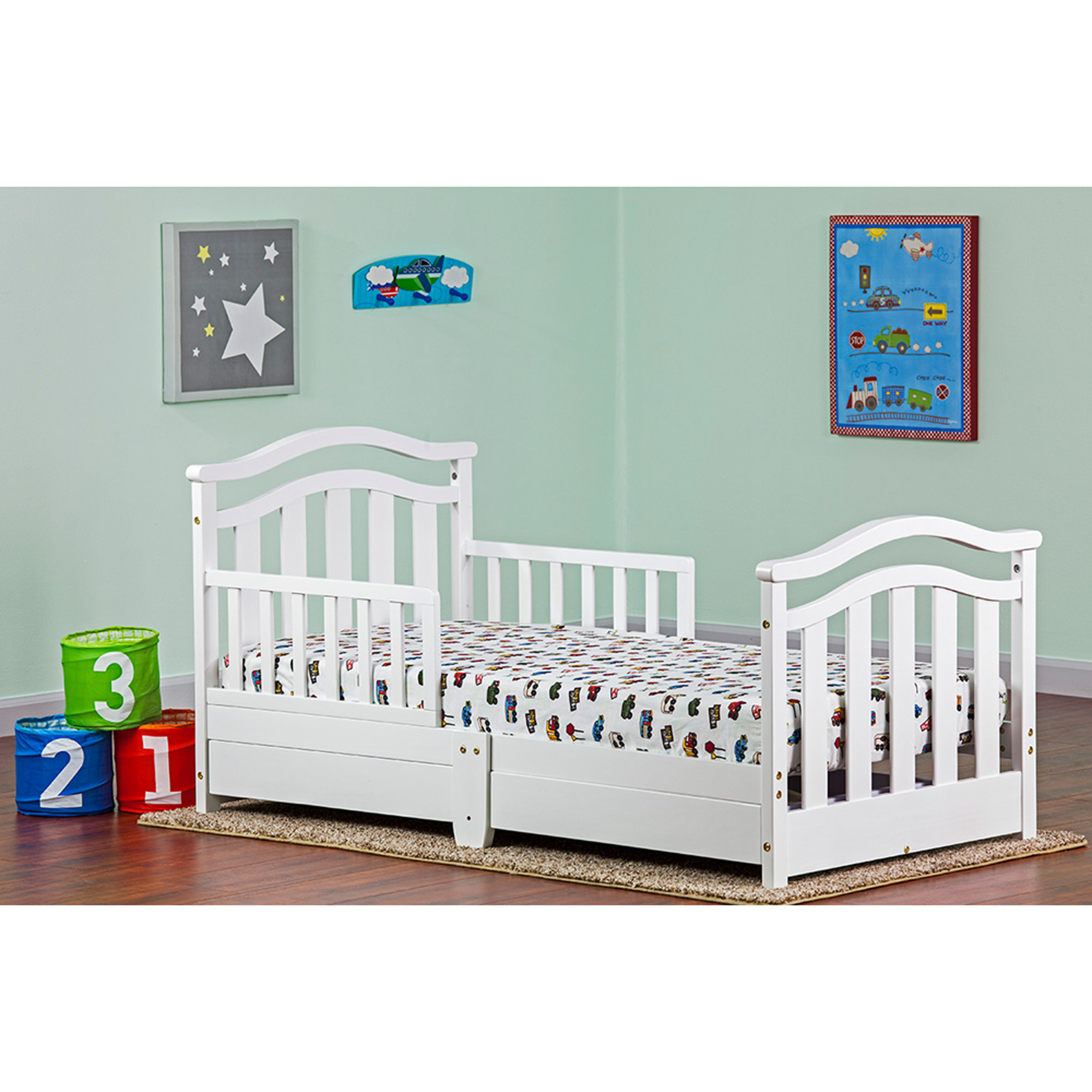 Dream On Me, Toddler Day Bed with Storage Drawer, White