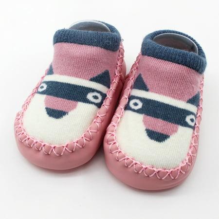 hot sale Cartoon Newborn Baby Girls Boys Anti-Slip Socks Slipper Shoes