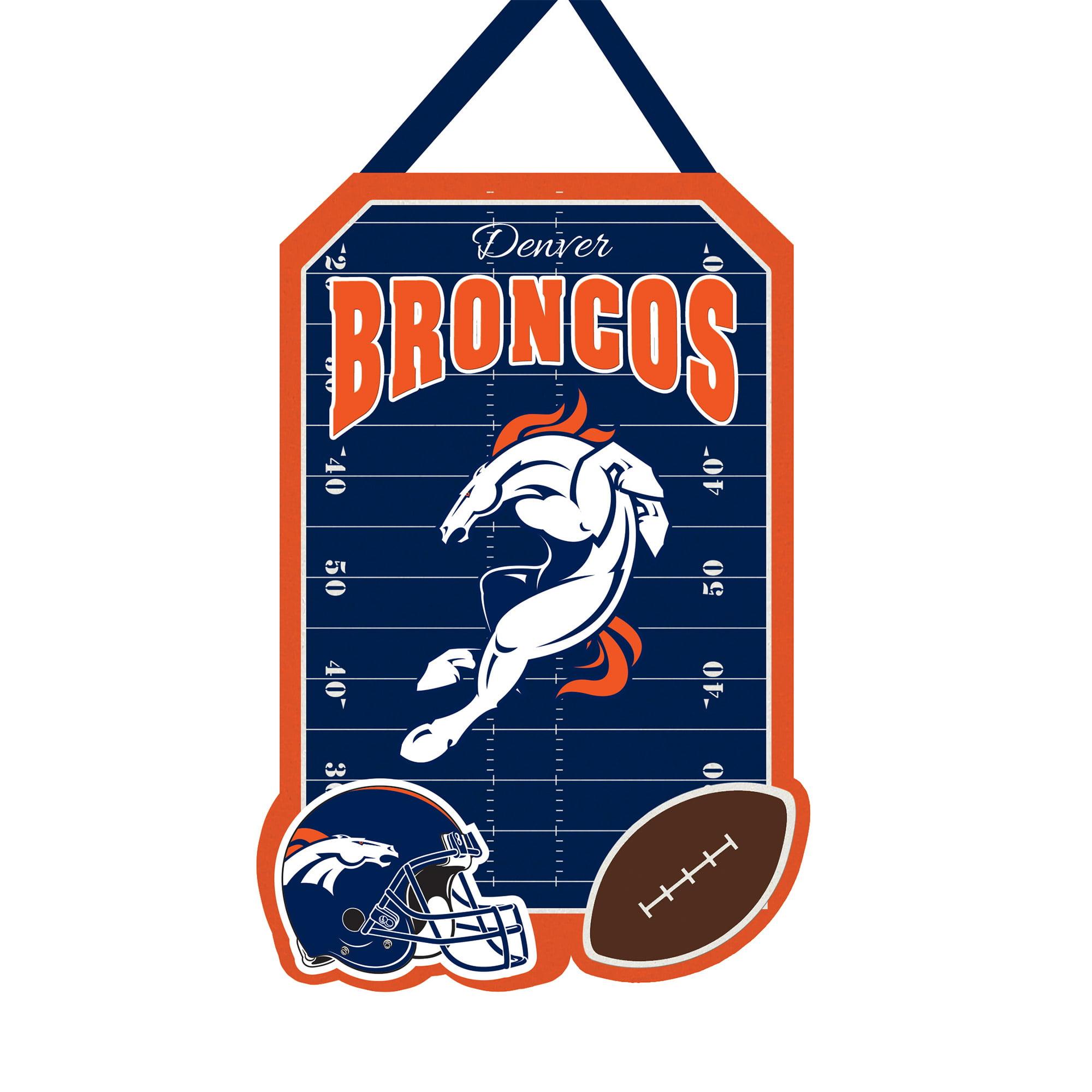 "Denver Broncos 20.5"" x 16.5"" Felt Door Decor Wall Banner - No Size"