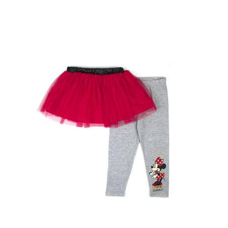 27b7d3a6d197f Minnie Mouse - Little Girls  4-6X Tutu Skirt and Legging 2-Piece Set ...