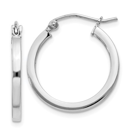 Sterling Silver 2mm Round Tube (925 Sterling Silver 2mm Square Tube Hoop Earrings Ear Hoops Set Round For Women Gift)