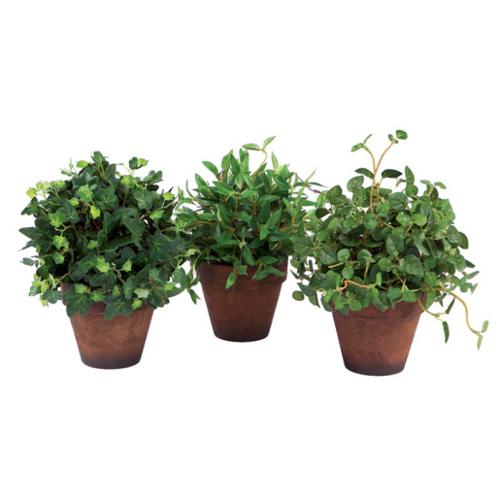 """8"""" Potted Realistic Green Bamboo Artificial Mini Silk Plant"""