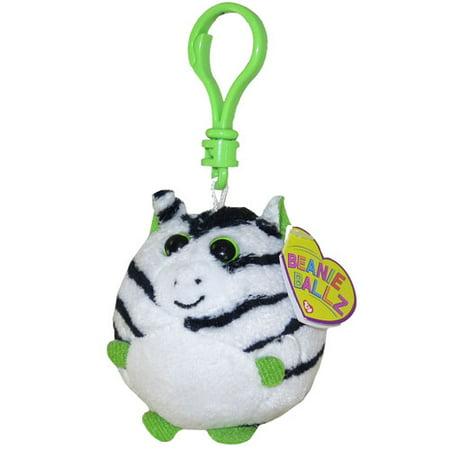 TY Beanie Ballz - OASIS the Zebra (Plastic Key Clip - 2.5 - Oasis Zebra