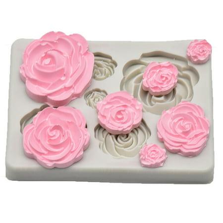 Tuscom Rose Flower Silicone Mold Fondant Mold Cake Decorating Tools Chocolate - Rose Chocolate Mold