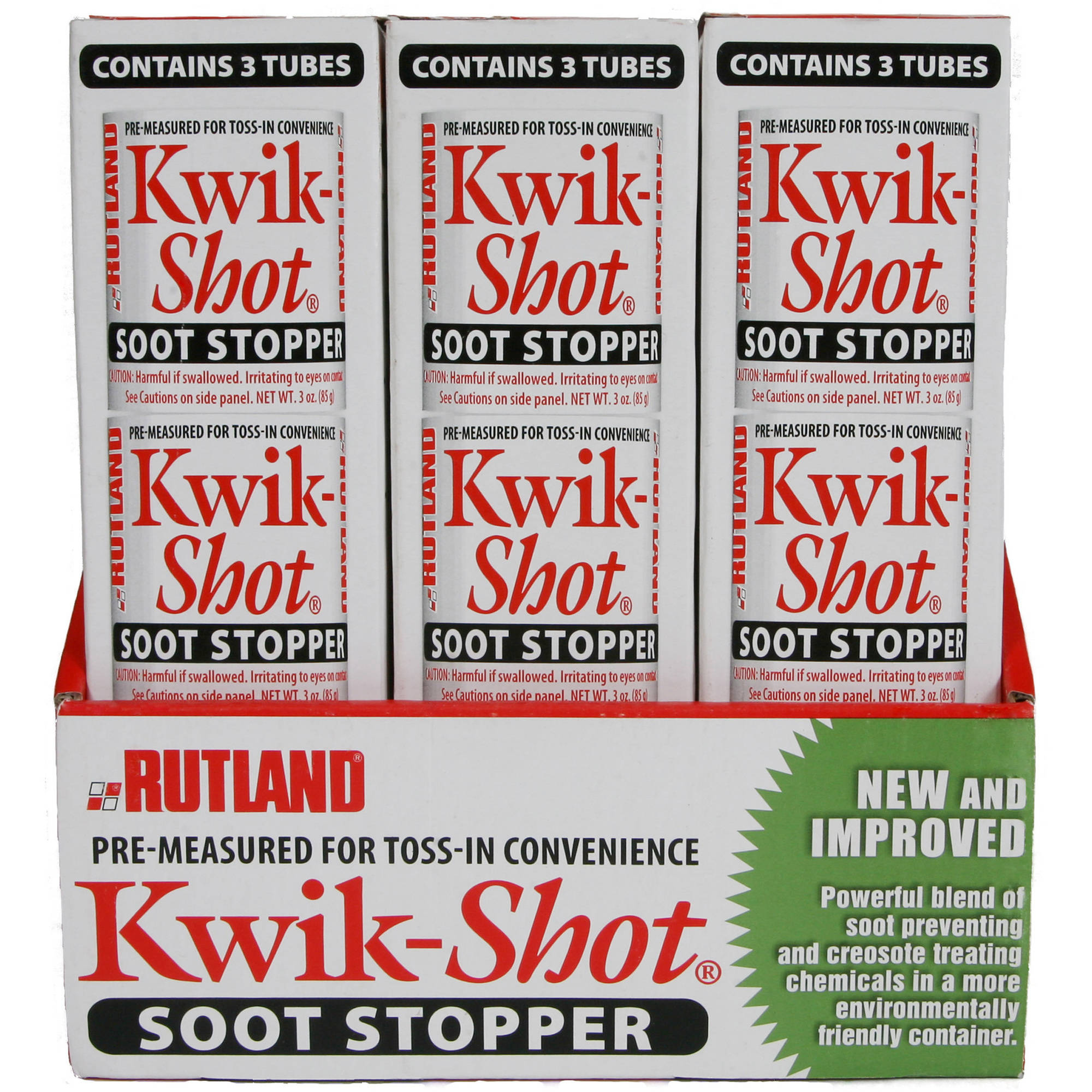 Rutland Kwik-Shot Soot Stopper, Canister, 3-Pack