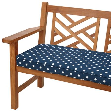 Wondrous Mozaic Co Navy Dots 60 Inch Indoor Outdoor Corded Bench Bralicious Painted Fabric Chair Ideas Braliciousco
