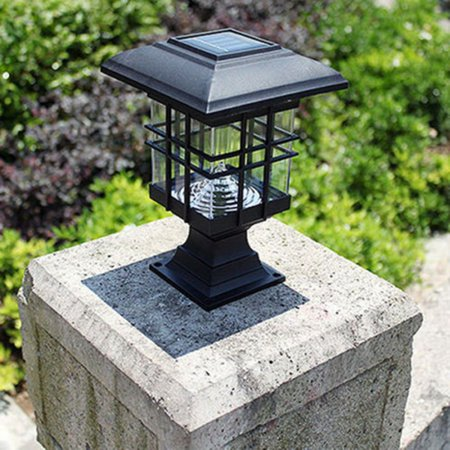 Meigar Outdoor Solar Powered LED Garden Yard Light Post Path Landscape Lamp Decoration (Solar System Decorations)