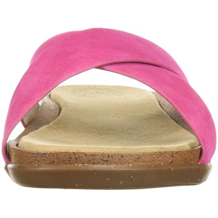 ae7bdf78a7e3b ‹Back to Slippers. G.H. Bass   Co. Womens Stella Leather Open Toe Casual  Slide - image 1 ...