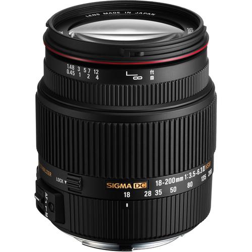 Sigma 18-200mm f/3.5-6.3 II DC OS HSM Lens for Canon Digi...