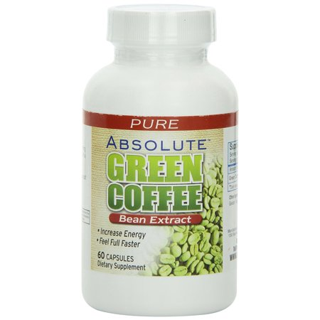Absolute Nutrition Green Coffee Bean Extract Dietary Supplement Capsules, 60 count