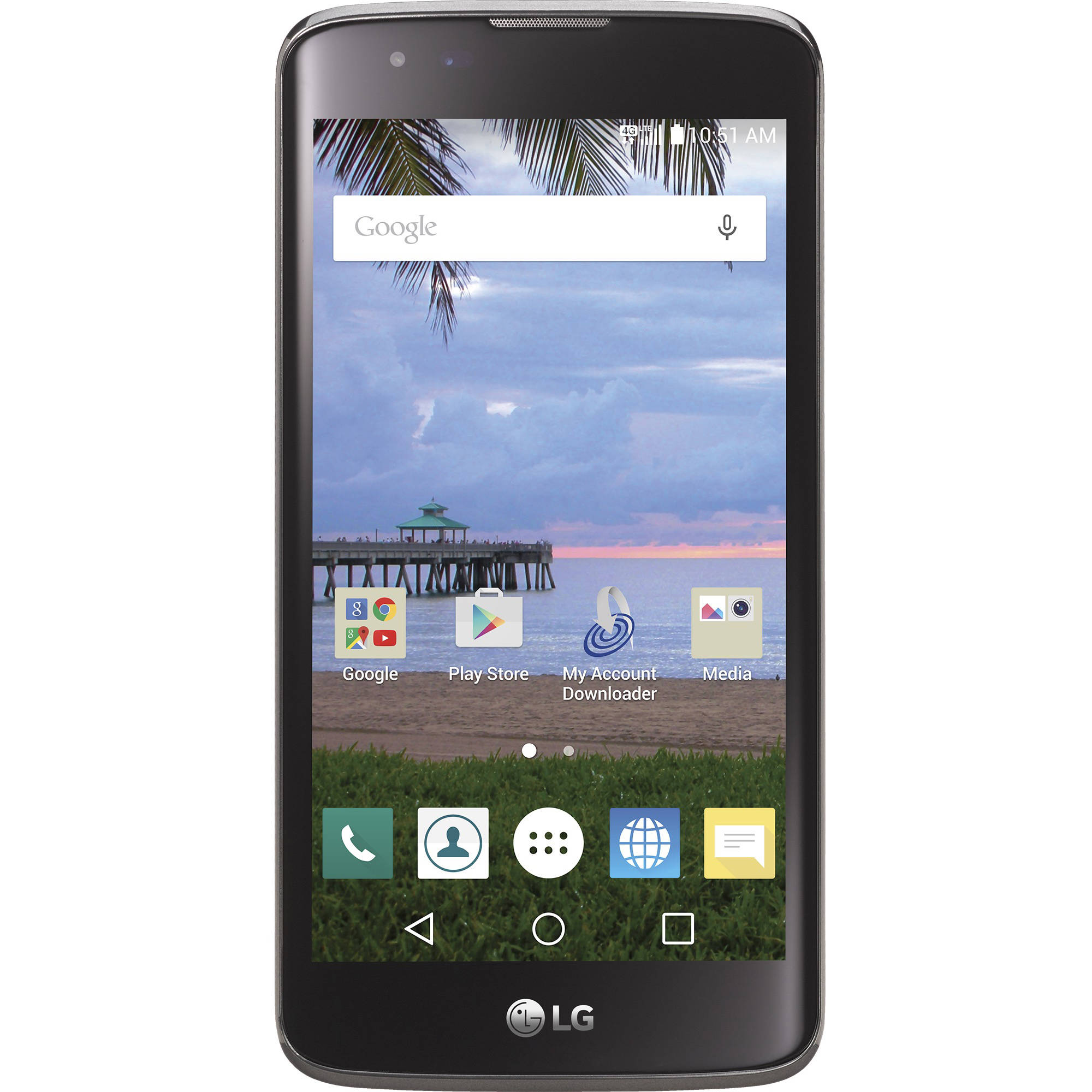 Net-10 LG L52VL Treasure 8GB Prepaid Smartphone, Black