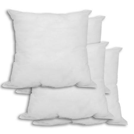 24x24 Pillow Insert Delectable Set Of 60 260 X 260 Premium Hypoallergenic Stuffer Pillow Insert