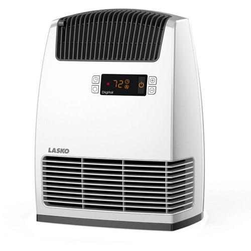 Lasko Electric Digital Ceramic Heater with Warm Air Motion Technology, White,  CC13650