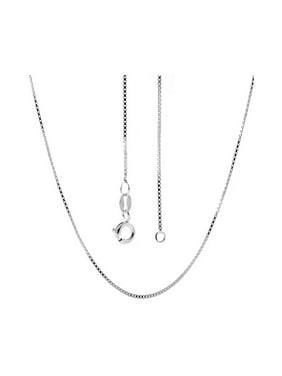 "Italian Sterling Silver Box Chain 14"" 16"" 18"" 20"" 22"" 24"" Necklace"