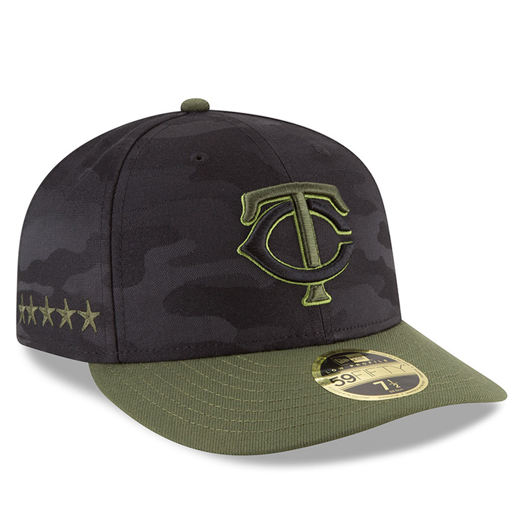 Minnesota Twins New Era 2018 Memorial Day On-Field Low Profile 59FIFTY Fitted Hat - Black