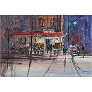 "Trademark Art ""Night Cafe"" Canvas Art by Ryan Radke"