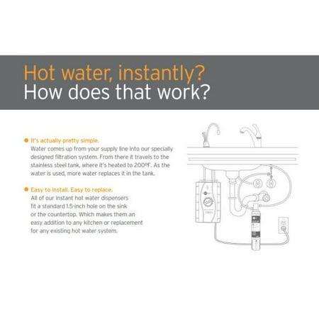 Insinkerator F-HC3300SN Satin Nickel Indulge Hot/Cool Water Dispenser