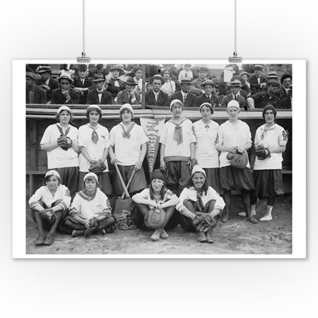 New York Female Giants, Baseball Photo #2 (9x12 Art Print, Wall Decor Travel Poster) - Photos Parade Halloween New York