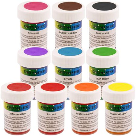 Chefmaster by US Cake Supply 1-Ounce Gel Base Food Color Student Kit ...