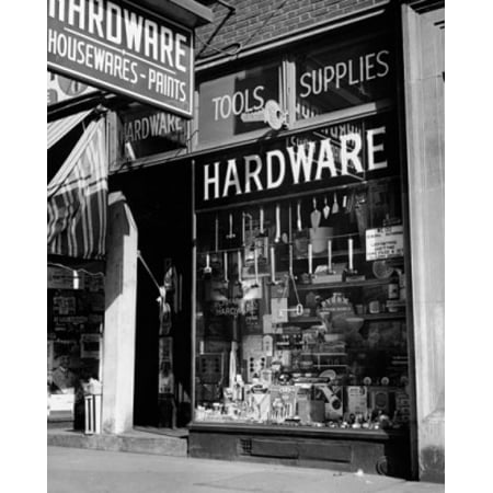 Window display of a hardware store Poster (Store Display Poster)