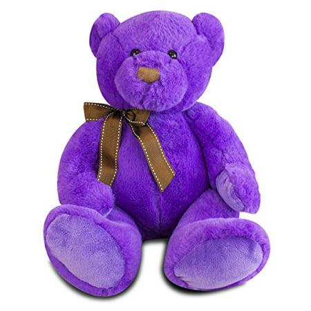 Gitzy 12 inch Sitting Purple Bear - Purple Bear