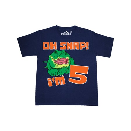 Oh Snap! I'm 5 Cute Green Alligator Youth T-Shirt