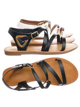 Velum2 by Speed Limit 98, Girls Gladiator Strappy Flat Sandal - Kids Children Open Toe Summer Shoe
