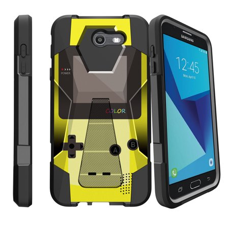 Display Fusion Pro - Case for Samsung Galaxy J7 PRO | J7-V 2017 | SKY PRO [ Shock Fusion ] Hybrid Layers and Kickstand Case Gaming Collection