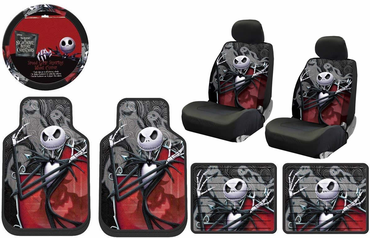 Nightmare Before Christmas Jack NBC Ghostly Front Rear Floor mats ...