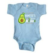 Inktastic Auntie's Little Avocado with Cute Baby Avocado Infant Short Sleeve Bodysuit Unisex