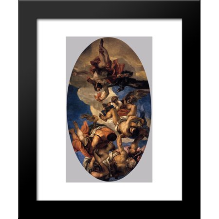Jupiter Hurling Thunderbolts At The Vices 20X24 Framed Art Print By Paolo Veronese