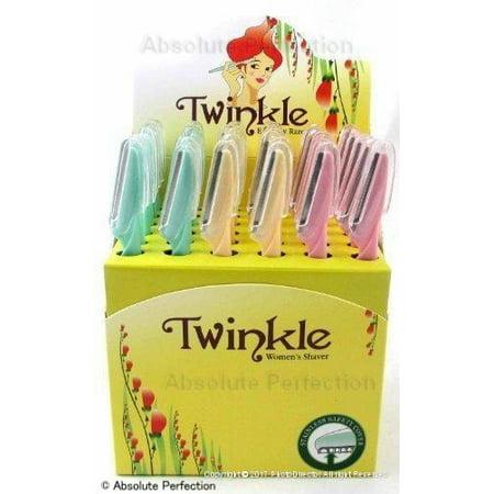 Twinkle (NOT Tinkle) Eyebrow Shaver Razor Bikini Trimmer Shaper Sensitive & Delicate Skin Hair Removal 36