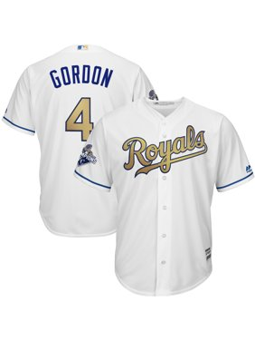 Alex Gordon Kansas City Royals Majestic World Series Champions Gold Program Cool Base Player Jersey - White