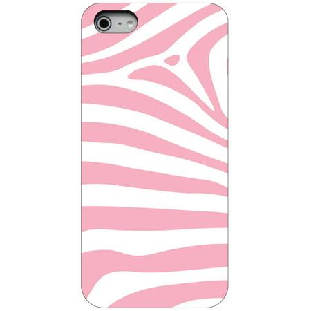 Custom Pink Zebra (CUSTOM Black Hard Plastic Snap-On Case for Apple iPhone 5 / 5S / SE - Pink & White Zebra Skin Stripes )