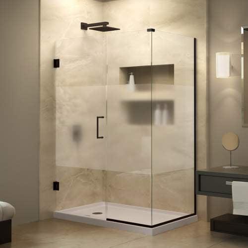 Bath Authority SHEN-24545340-HFR-06 DreamLine Unidoor Plus 54-1/2 inch W x 34-3/8 inch D x 72 inch H Hinged Shower