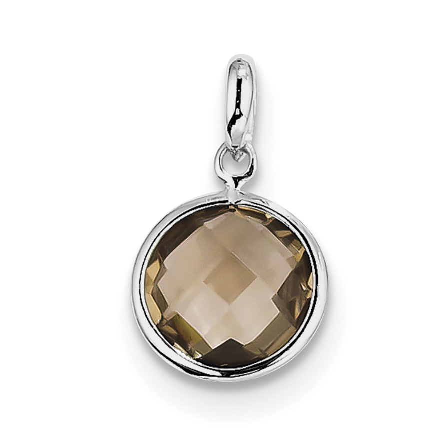 925 Sterling Silver Pink Quartz Diamond Pendant Charm Necklace Gemstone Fine Jewelry For Women Gifts For Her