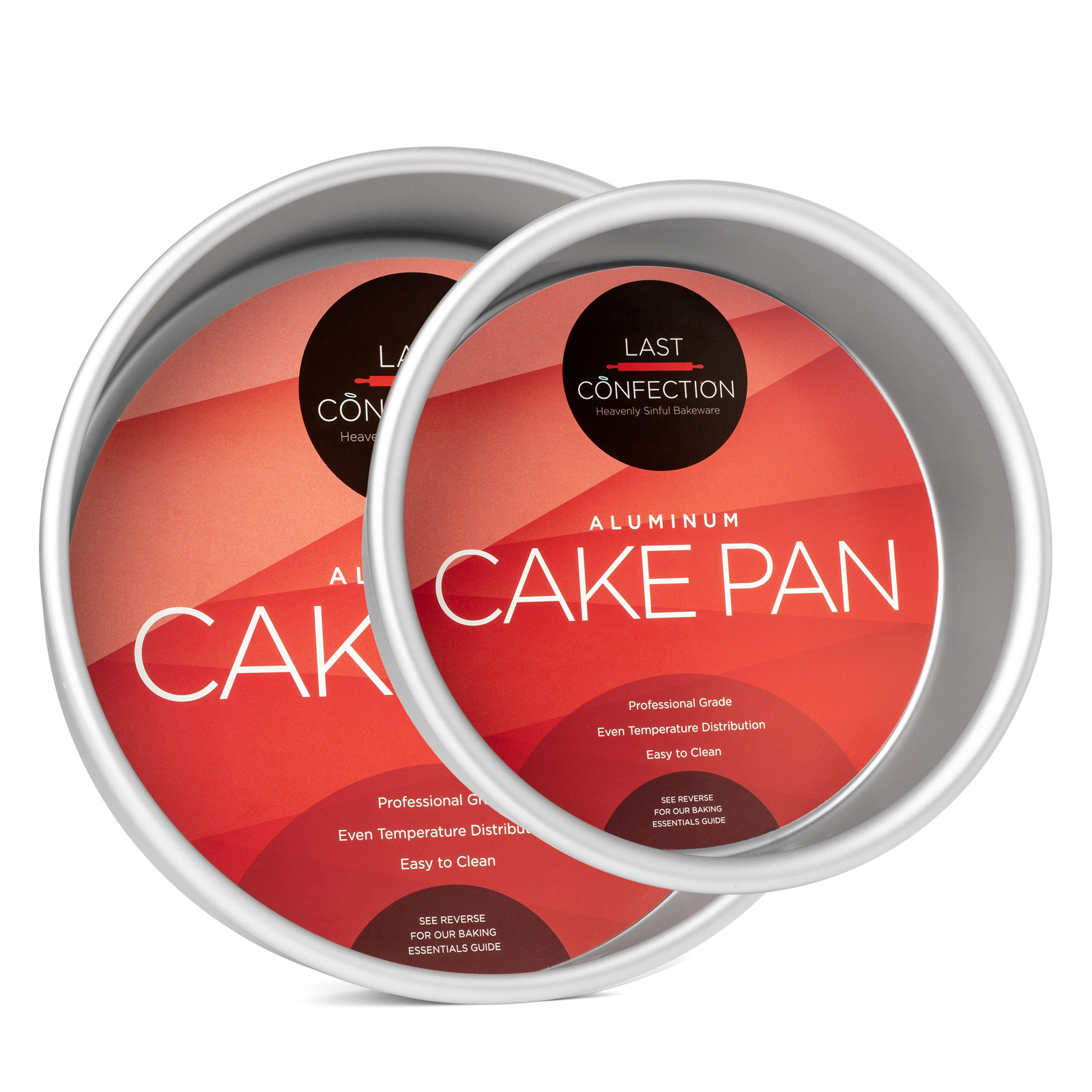 Last Confection Professional Bakeware Round Aluminum Cake Pan Sets (Multiple Sizes) by Last Confection