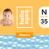 Hello Bello Diapers Jumbo Pack - Rainy Days - Size N (35ct)