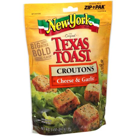 New York Brand The Original Texas Toast Cheese & Garlic Croutons, 5 oz
