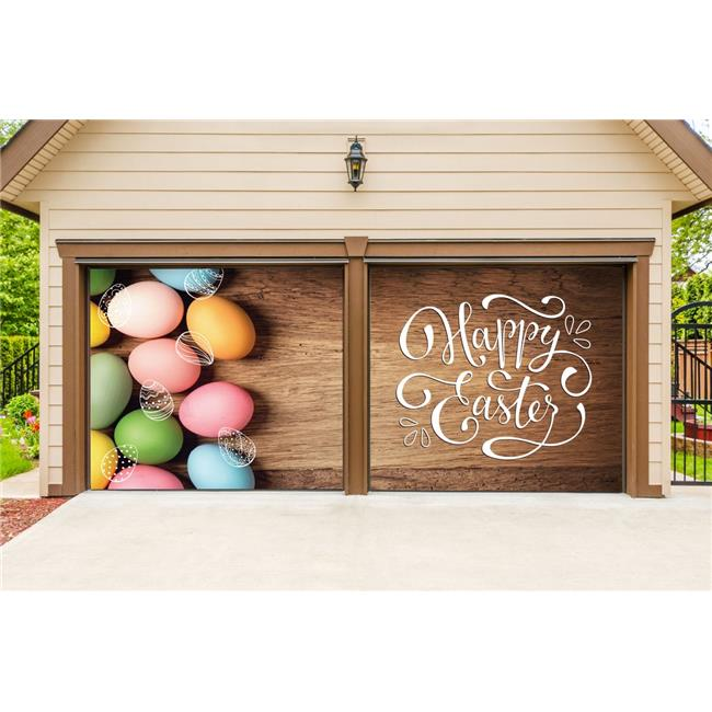 My Door Decor 285901east 002 7 X 8 Ft Happy Easter Eggs Holiday Door Mural Sign Split Car Garage Banner Decor 44 Multi Color Walmart Com Walmart Com