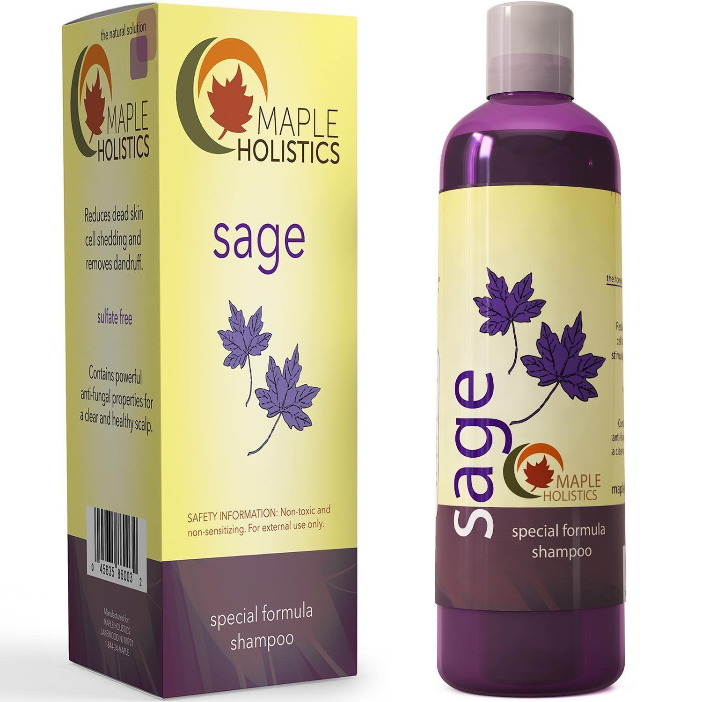 Maple Holistics Sage Shampoo for Anti Dandruff with Jojoba, Argan, and Organic Tea