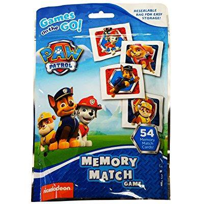 nickelodeon paw patrol memory match game - games on the go