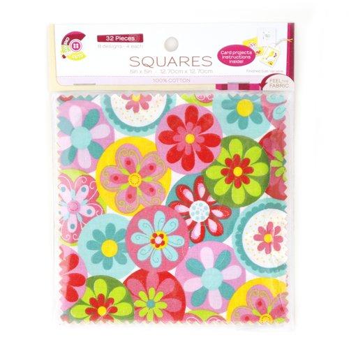 Creative Cuts Sweet Tweet Squares, White