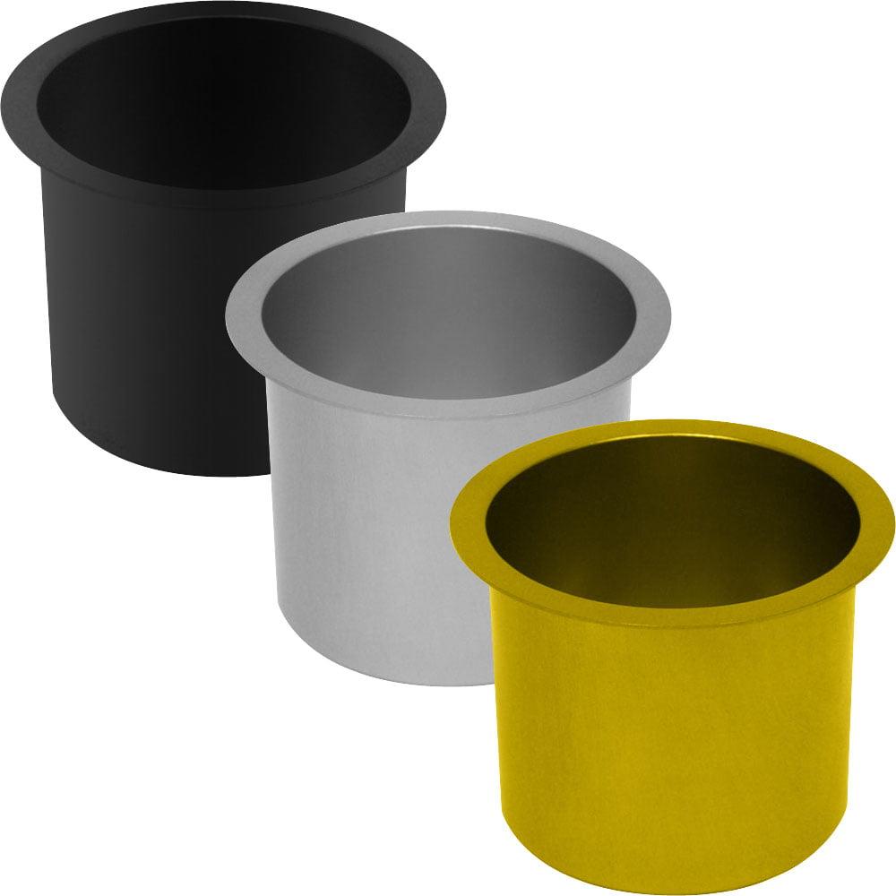 Jumbo Aluminum BLACK Poker Table Cup Holder