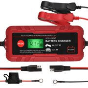 Best 12v Battery Chargers - 70W Fully Automatic Battery Charger, 6V/12V Lead-Acid Auto Review