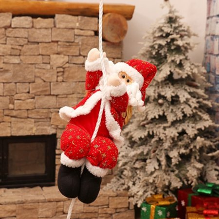Christmas Gifts Decoration Cartoon Fabrics Santa Claus Market Showcase Party Ornament Wall Hanging Pendant Christmas Tree Cartoons - Christmas Cartoon Tree